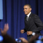 President Barack Obama arrives to speak at a campaign event in Washington, Friday, Sept. 28, 2012 