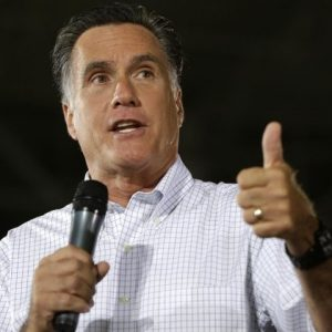 Republican presidential candidate Mitt Romney campaigns at PR Machine Works in Mansfield, Ohio, Monday, Sept. 10, 2012. 