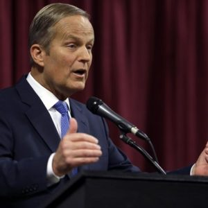 Rep. Todd Akin, R-Mo., speaks during the first debate in the Missouri Senate race Friday, Sept. 21, 2012, in Columbia, Mo. 