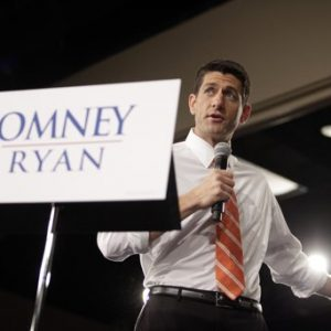 Paul Ryan in Lima, Oho  (AP Photo/J.D. Pooley)