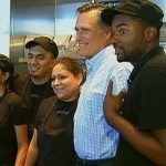 Republican Presidential Nominee Mitt Romney picked up lunch at a Chipotle Mexican Grill near the hotel where he was staying in Denver on Tuesday. Romney is in Denver for Wednesday night's Presidential Debate. (AP Photo)