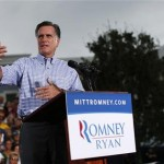 Republican presidential nominee Mitt Romney speaks during a campaign rally in Port St. Lucie, Florida October 7, 2012. (REUTERS/Shannon Stapleton)