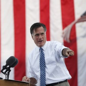 Republican presidential nominee Mitt Romney speaks during a campaign rally at the Golden Lamb in Lebanon, Ohio October 13, 2012. 