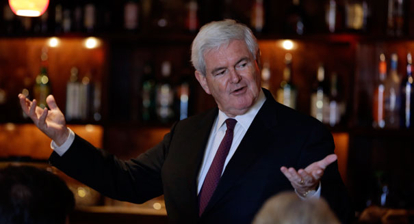 Failed Presidential candidate Newt Gingrich: Living large off other people's money.