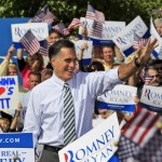 Republican presidential candidate, former Gov. Mitt Romney waves to supporters as he arrives for a rally at Tidewater Community College in Chesapeake, Va., Wednesday, Oct. 17, 2012.
