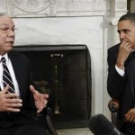 Colin Powell and Barack Obama (REUTERS/Jim Young)