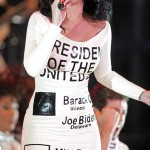 Katy Perry.  Dressed for political success?