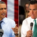 Barack Obama and Mitt Romney:  Locked in a tight race