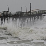 Sandy slams ashore in North Carolina (AP Photo By Gerry Broome)