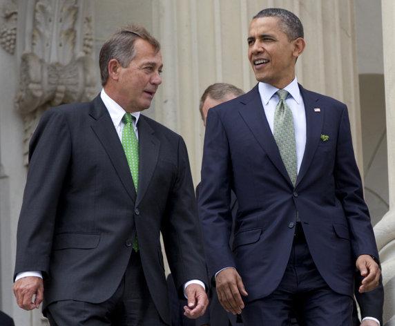 Speaker John Boehner and President Barack Obama  (AP Photo/Carolyn Kaster, File)
