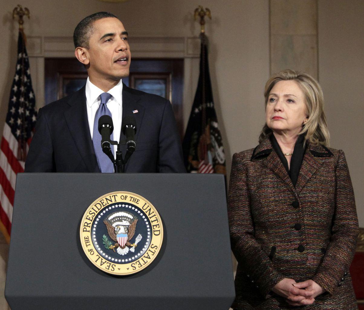 President Barack Obama and Secretary of State Hillary Clinton (AP Photo/Carolyn Kaster, File)