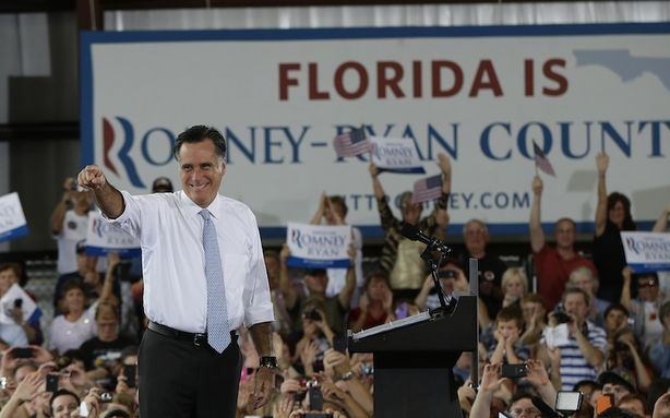 Florida, the campaign sign said is Romney-Ryan country.  Well, it wasn't.