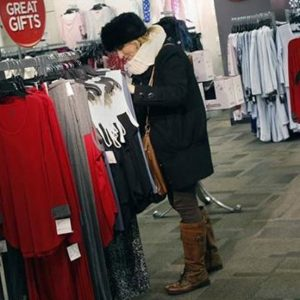 A woman shops for jeans at a J.C. Penney store in New York November 27, 2012. (REUTERS/Shannon Stapleton)