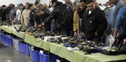 Gun enthusiasts flock to shows to buy new arms