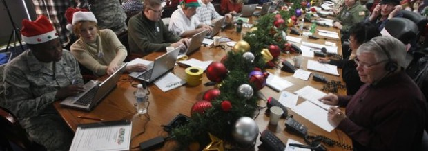 Record number of calls to Santa
