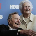 Former President George H.W. Bush and wife Barbara ( AP Photo/Charles Krupa, File)