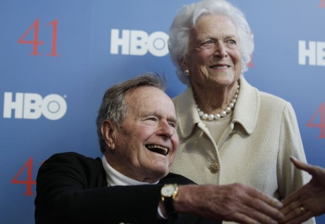 Former President George H.W. Bush and wife Barbara (AP Photo/Charles Krupa, File)