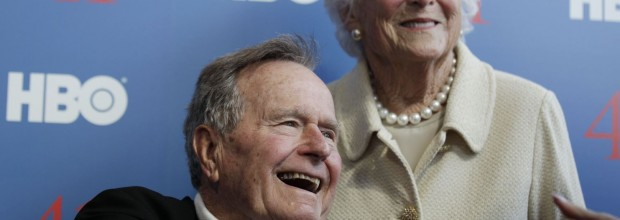Former President George H. W. Bush in intensive care