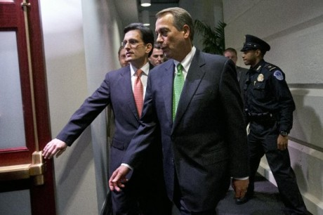 House Speaker John Boehner and Majority Leader Eric Cantor (AP Photo/Jacquelyn Martin)