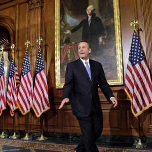 John Boehner: A controversial speaker of a divided party in the House. (AP Photo/J. Scott Applewhite)