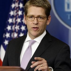 White House press secretary Jay Carney speaks during his daily news briefing at the White House in Washington, Monday, Jan. 7, 2013.  (AP Photo/Charles Dharapak)