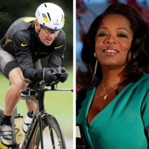 Lance Armstrong and Oprah Winfrey (AP)