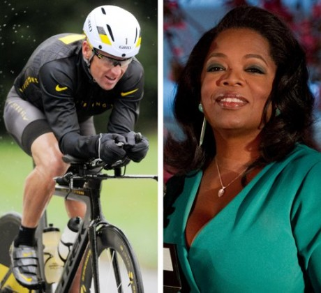 Lance Armstrong and Oprah Winfrey(AP)