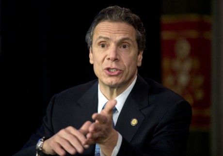 New York Gov. Andrew Cuomo speaks during a news conference announcing an agreement with legislative leaders on New York's Secure Ammunition and Firearms Enforcement Act in the Red Room at the Capitol on Monday, Jan. 14, 2013, in Albany, N.Y. (AP Photo/Mike Groll)