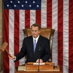 Speaker of the House John Boehner bangs the gavel during the first day of the 113th Congress at the Capitol in Washington January 3, 2013. 