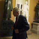 Senate Majority Leader Harry Reid (D-NV) walks to his office at the U.S. Capitol after returning from a meeting with President Barack Obama at the White House in Washington.  REUTERS/Mary Calvert  less