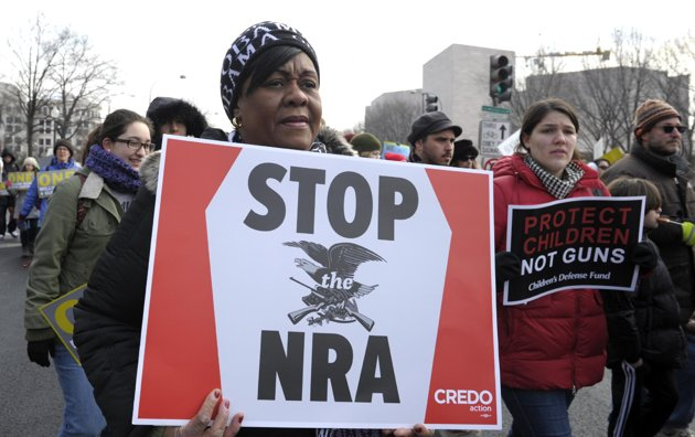 Thousands march for gun control in Washington