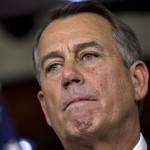 Speaker of the House John Boehner, R-Ohio, speaks to reporters about the fiscal cliff negotiations at the Capitol in Washington. 