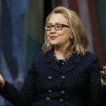 Secretary of State Hillary Clinton holds a Global Town Townterview at the Newseum in Washington January 29, 2013.  (REUTERS/Gary Cameron)