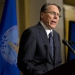 The National Rifle Association executive vice president Wayne LaPierre. (AP Photo/Evan Vucci)