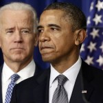 President Barack Obama, accompanied by Vice President Joe Biden, talks about proposals to reduce gun violence at the White House in Washington. Obama has called for a ban on military-style assault weapons and high-capacity ammunition magazines and is pushing other policies in the wake of the mass shooting last month at an elementary school in Newtown, Conn. In response, gun-rights advocates have accused Obama and others of ignoring the Second Amendment rights of Americans.  (AP Photo/Charles Dharapak)