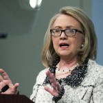 Secretary of State Hillary Rodham Clinton speaks on American leadership at the Council on Foreign Relations in Washington, Thursday, Jan. 31, 2013.  (AP Photo/Manuel Balce Ceneta)