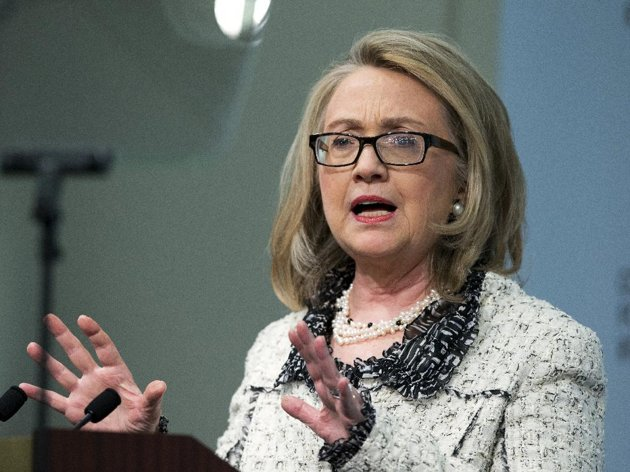 Hillary Clinton exits State Department with a jab at critics