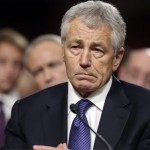Republican Chuck Hagel, President Obama&#039;s choice for defense secretary, testifies before the Senate Armed Services Committee during his confirmation hearing, on Capitol Hill in Washington, Thursday, Jan. 31, 2013. 