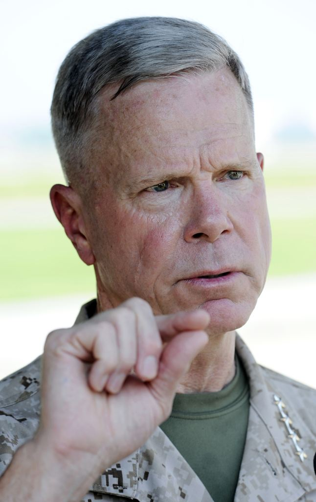Gen. James Amos, head of the Marine Corps (AP)