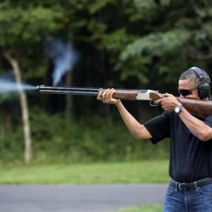 President Obama's claim to be a gun enthusiast. Is it real? (White House photo)