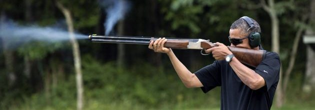President Obama's skeet shooting photo: A staged political lie?