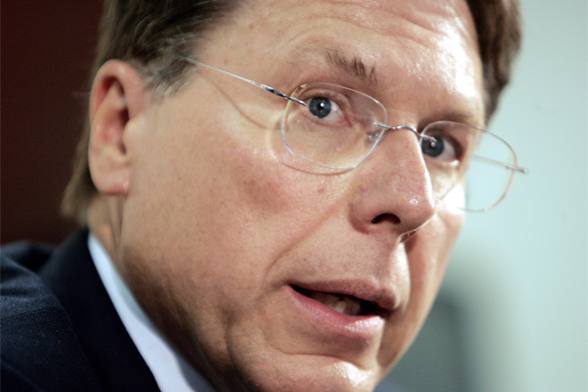 Embattled NRA Chief LaPierre: Under fire from within. (AP Photo/Ron Edmonds)
