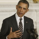 President Barack Obama addresses the National Governors Association in the State Dining Room of the White House in Washington, Monday, Feb. 25, 2013. (AP Photo/Charles Dharapak)