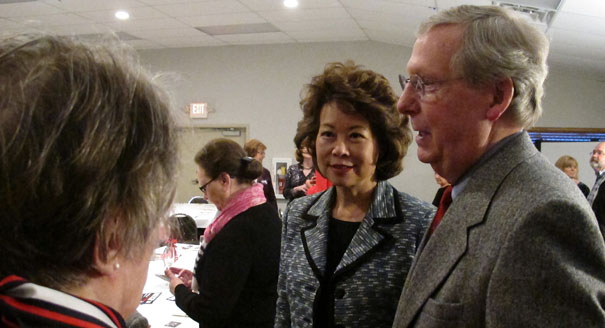 Sen. Mitch McConnell and Taiwan-born Elaine Chao (AP)
