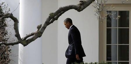Obama's public approval rating drops as Americans blame him for fiscal mess
