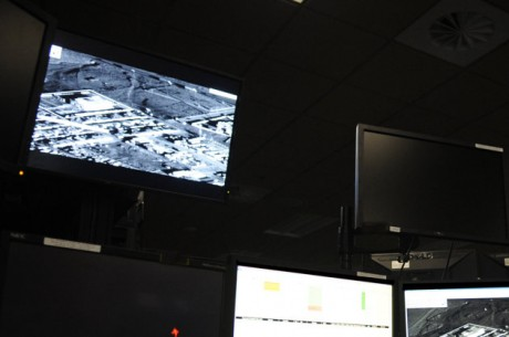 Air Force Operations Center at Langley Air Base in Hampton, VA.