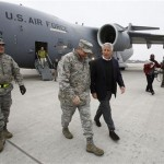 Secretary of Defense Chuck Hagel (R) walks with U.S. General Philip Breedlove, U.S. Air Force Commander for Europe, upon Hagel's arrival at Ramstein Air Base in Germany, 2013.(REUTERS/Jason Reed)