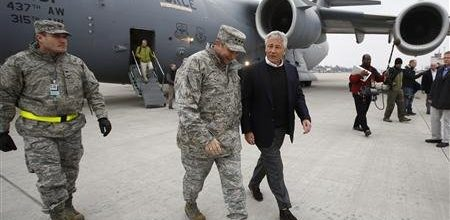 Hagel's Afghan trip: A disaster that went way off script