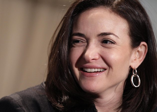 Sheryl Sandberg, Facebook's chief operating officer, speaks at a luncheon for the American Society of News Editors in San Diego. In the Pew Research Center study being released Thursday, March 14, 2013 researchers saw a big spike in the share of working mothers who said they'd prefer to work full time; 37 percent said that was their ideal, up from 21 percent in 2007. The poll comes amid a national debate on women in the workplace ignited by Sandberg, who writes in a new book about the need for women to be more professionally aggressive.  (AP Photo/Gregory Bull, File)