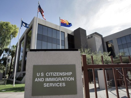 The U.S. Supreme Court will struggle this week with the validity of an Arizona law that tries to keep illegal immigrants from voting by demanding all state residents show documents proving their U.S. citizenship before registering to vote in national elections.  (AP Photo/Matt York, File)